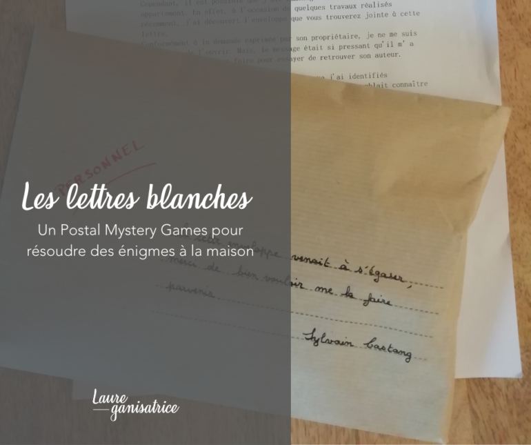 Les lettres blanches : un postal mystery game