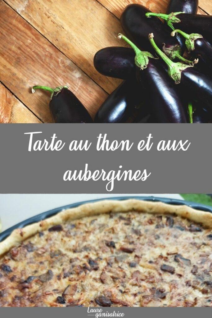 Tarte au thon et aux aubergines #recettes #été #tarte #facile #aubergine