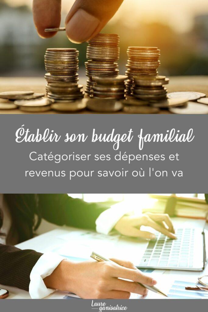 Établir son budget familial. Catégoriser ses dépenses et revenus pour savoir où l'on va #finances #budget #famille #argent #conseils