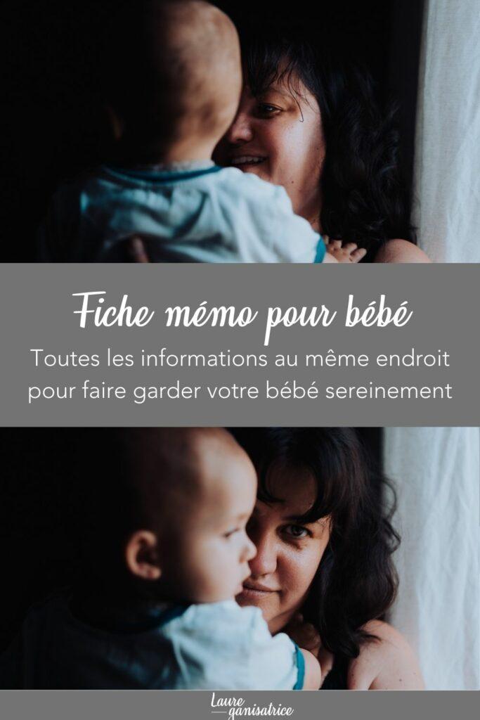 Contient toute les informations pour faire garder votre bébé pour une journée, une soirée ou un weekend