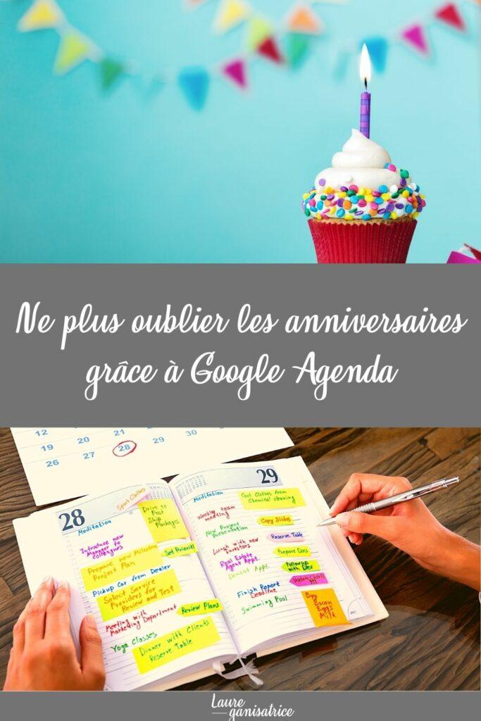 Ne plus oublier les anniversaires grâce à Google Agenda #rappel #organisation #google #agenda #anniversaire #configuration #tutoriel #gratuit #pdf